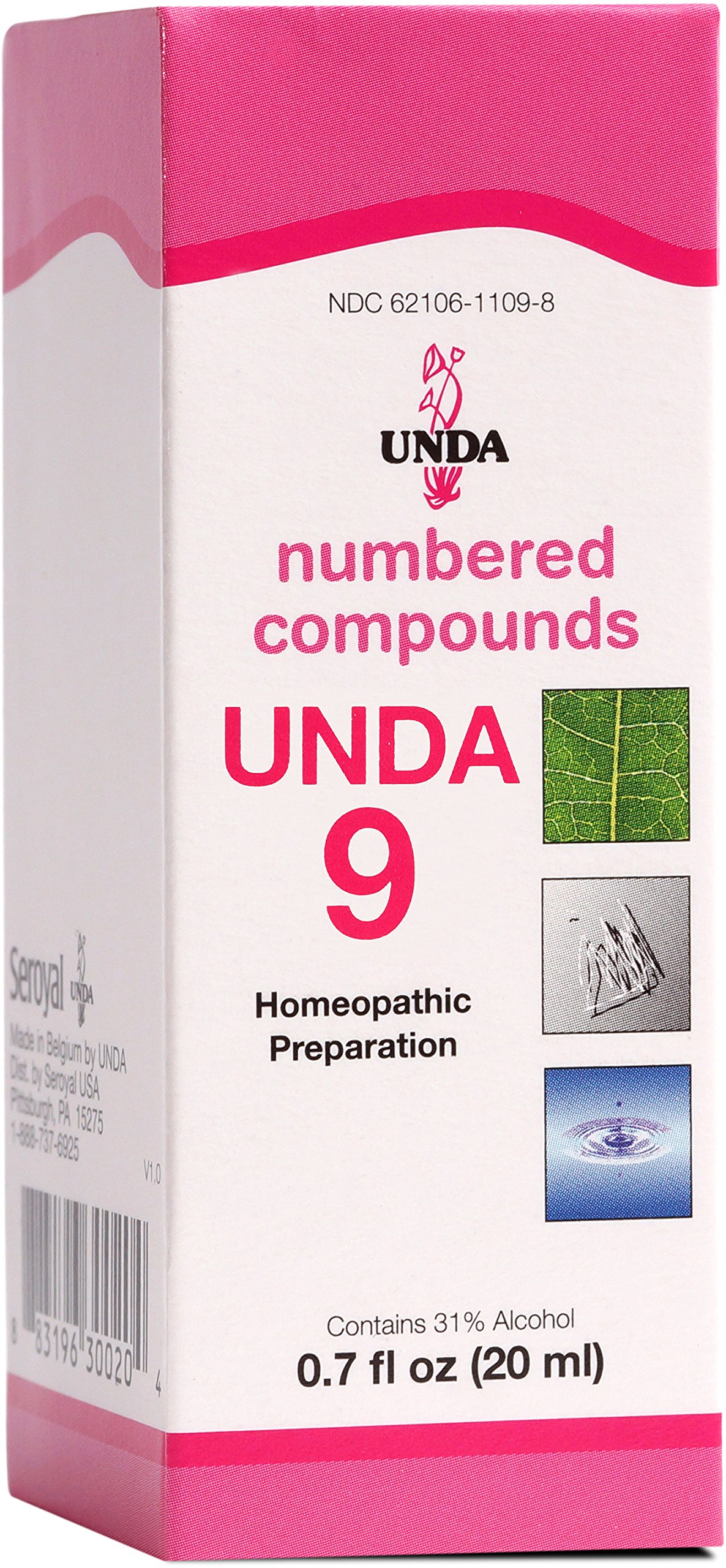 UNDA - UNDA 9 Numbered Compounds - Homeopathic Preparation - 0.7 fl oz (20 ml)