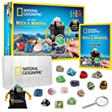 NATIONAL GEOGRAPHIC Rock & Mineral Collection - Rock Collection Box for Kids, 15 Rocks and Minerals, Desert Rose, Agate…