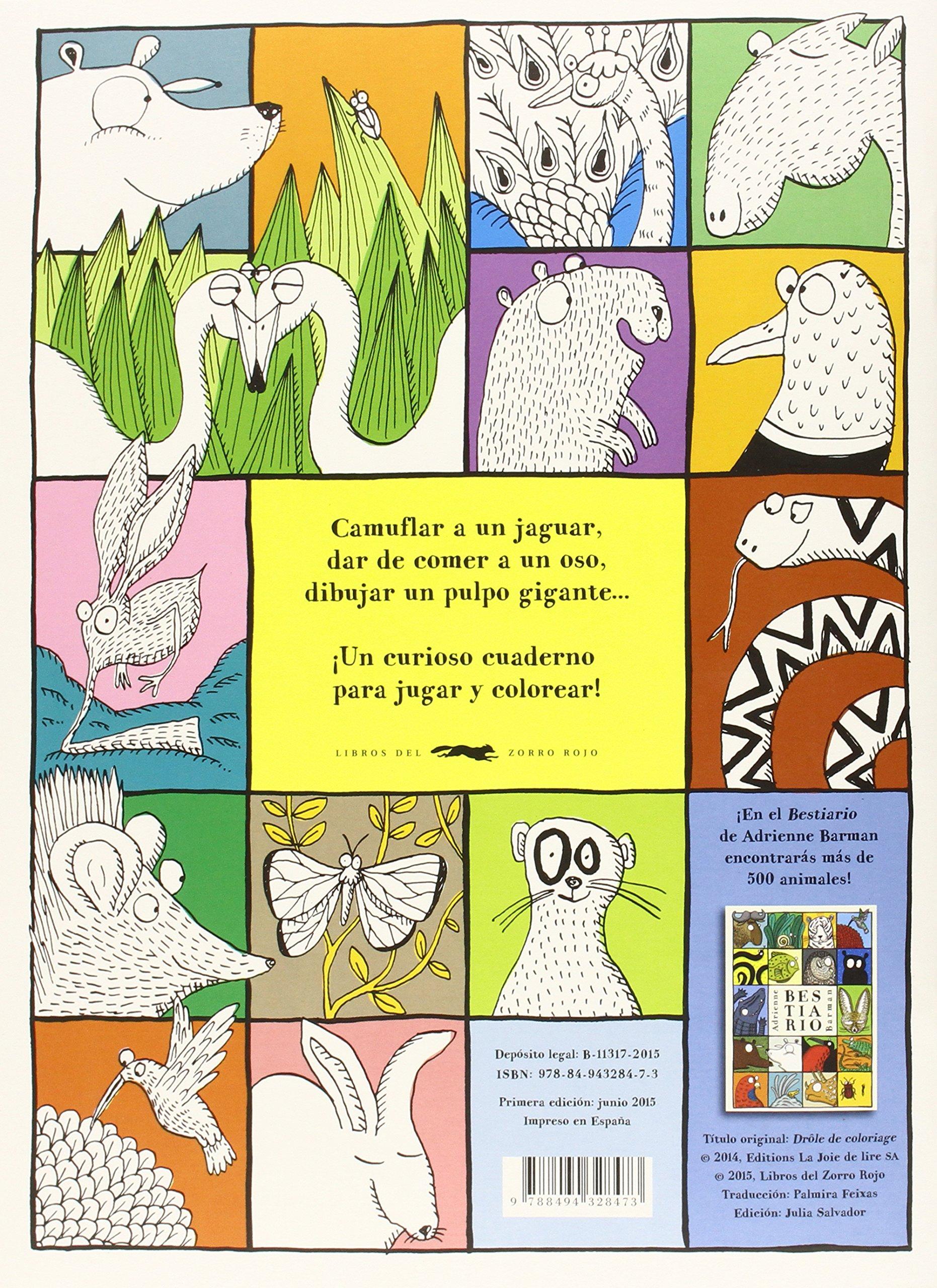Bestiario Para Colorear (Aprender y descubrir): Amazon.es: Adrienne ...