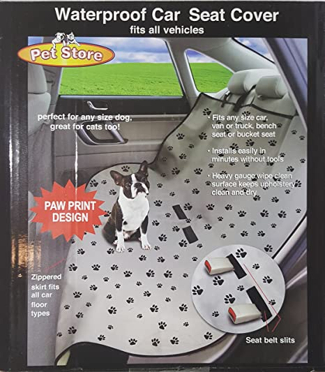 Fine Jsny Waterproof Pet Seat Cover Paw Print Onthecornerstone Fun Painted Chair Ideas Images Onthecornerstoneorg