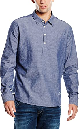 Pepe Jeans London Camisa Hombre Whitman Azul Oscuro M: Amazon.es: Ropa y accesorios