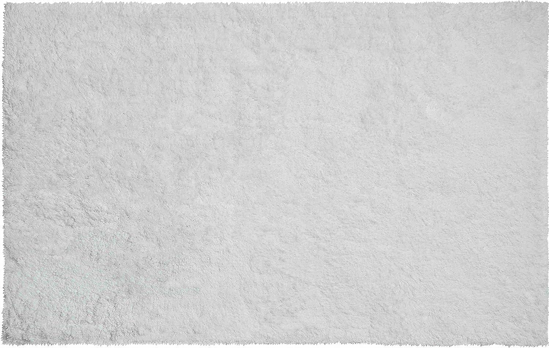 Grund organisch Garn Badteppich, 100% Bio-Baumwolle Garn, ultra soft, rutschfest, ÖKO-TEX-zertifiziert, 5 Jahre Garantie, CALO, Badematte 60x100 cm, weiss