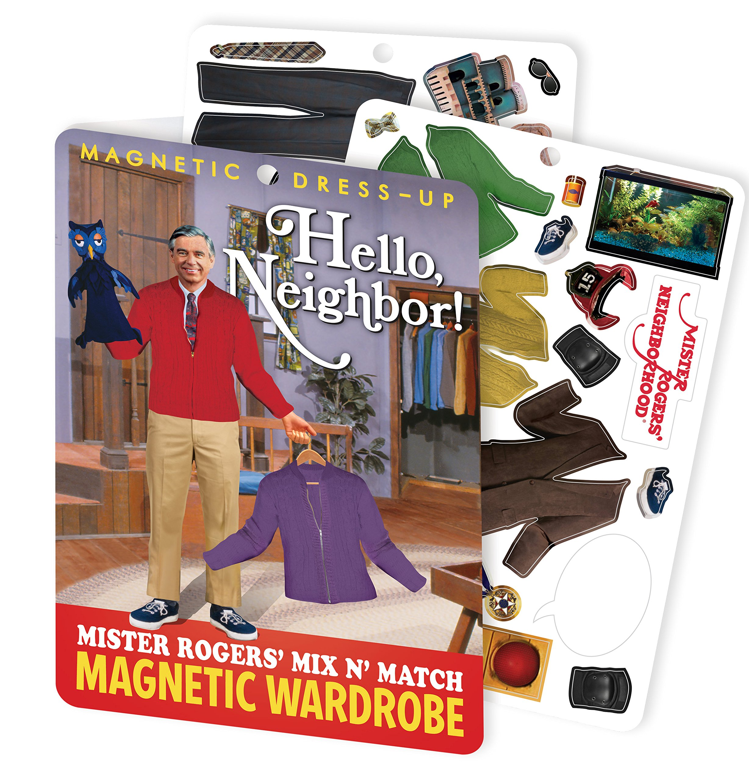 The Unemployed Philosophers Guild Hello Neighbor - Mister Rogers Magnetic Dress Up Play Set