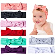 YSense Baby Girl Cute Turban Headbands Head Wrap Knotted Hair Band for Newborn, Toddler and Childrens