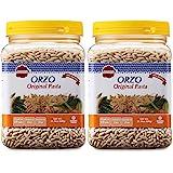 Baron's Orzo Pasta Original | 2 Pack of 21.16oz Kosher Jars | Natural Israeli Rice-Shaped Orzo for Soups, Casseroles & Salads