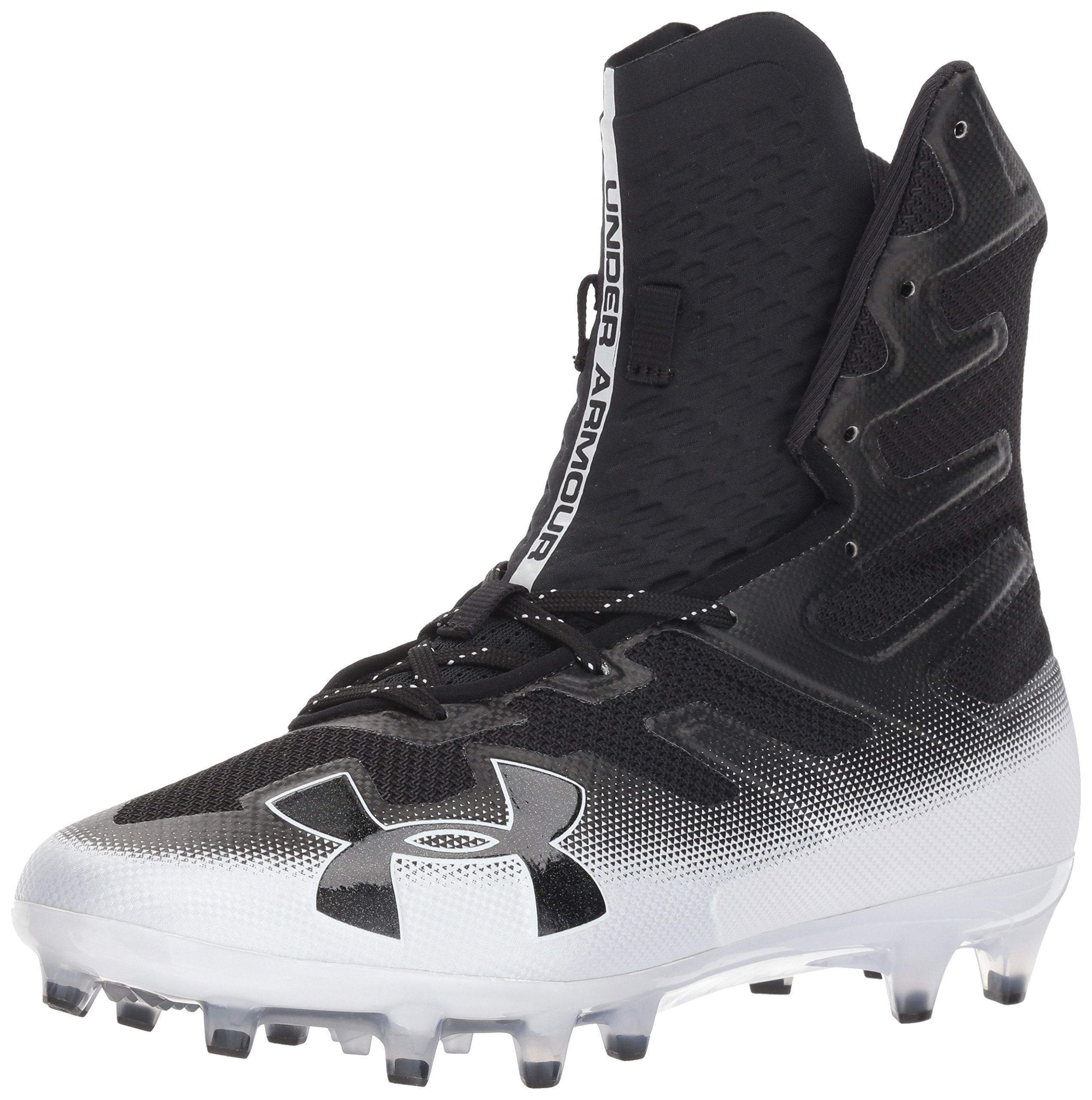 Under Armour Men's Highlight MC Football Shoe, Black (002)/White, 6.5