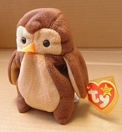 Image Unavailable. Image not available for. Color  TY Beanie Babies Hoot  the Owl ... 8f8a4ad861e0
