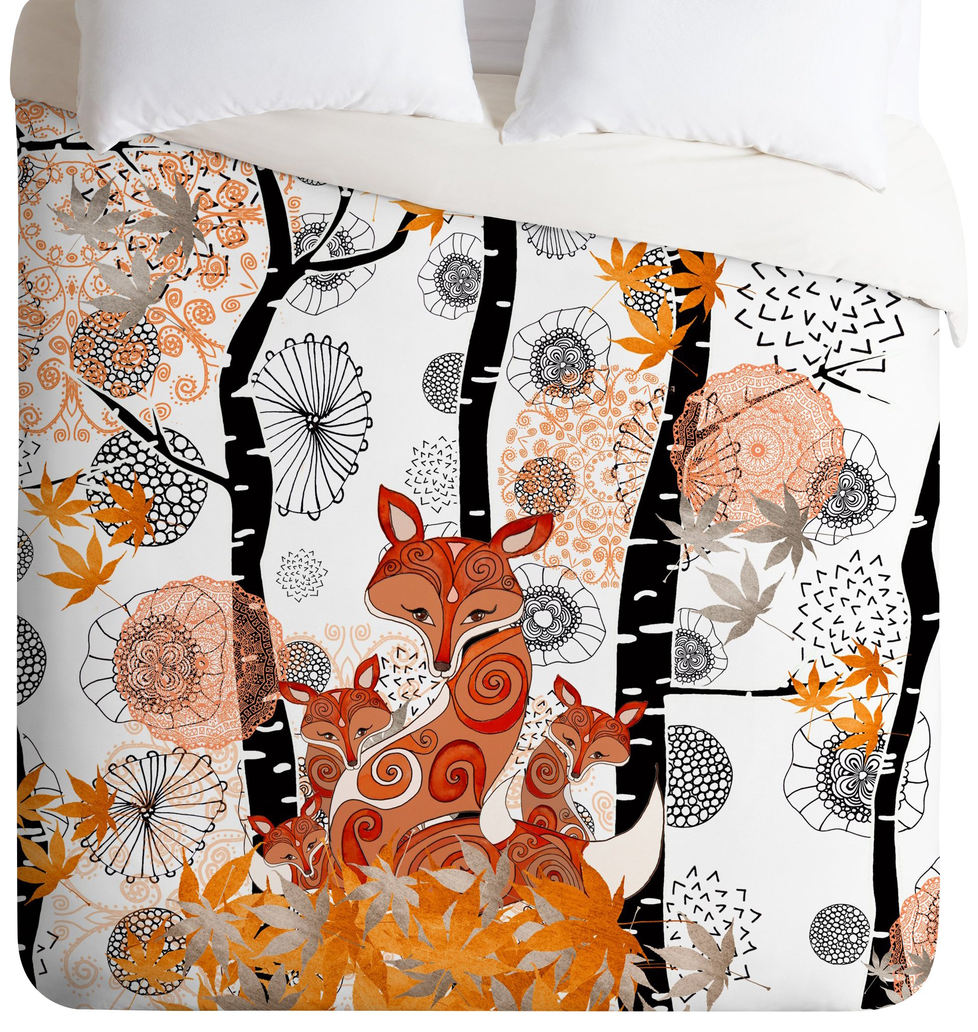 Monika Strigel Hello Foxy Duvet Cover, Queen