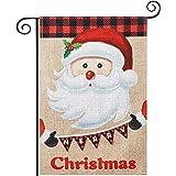 hogardeck Merry Christmas Garden Flags, Vertical Double Sided Burlap Yard Flag, Christmas Banner Outdoor Indoor Christmas Dec