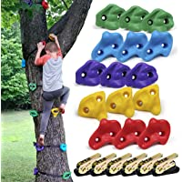 SSBRIGHT Tree Climbers, Set of 15 Climbing Holds/Steps for Kids' Outdoor Active Play with 6 Ratchet Straps
