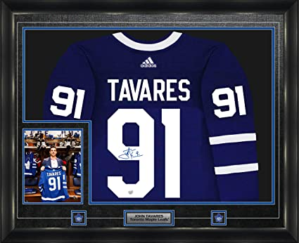 cheap for discount d77f7 a2039 John Tavares Signed Jersey Framed Pro Adidas Toronto Maple ...