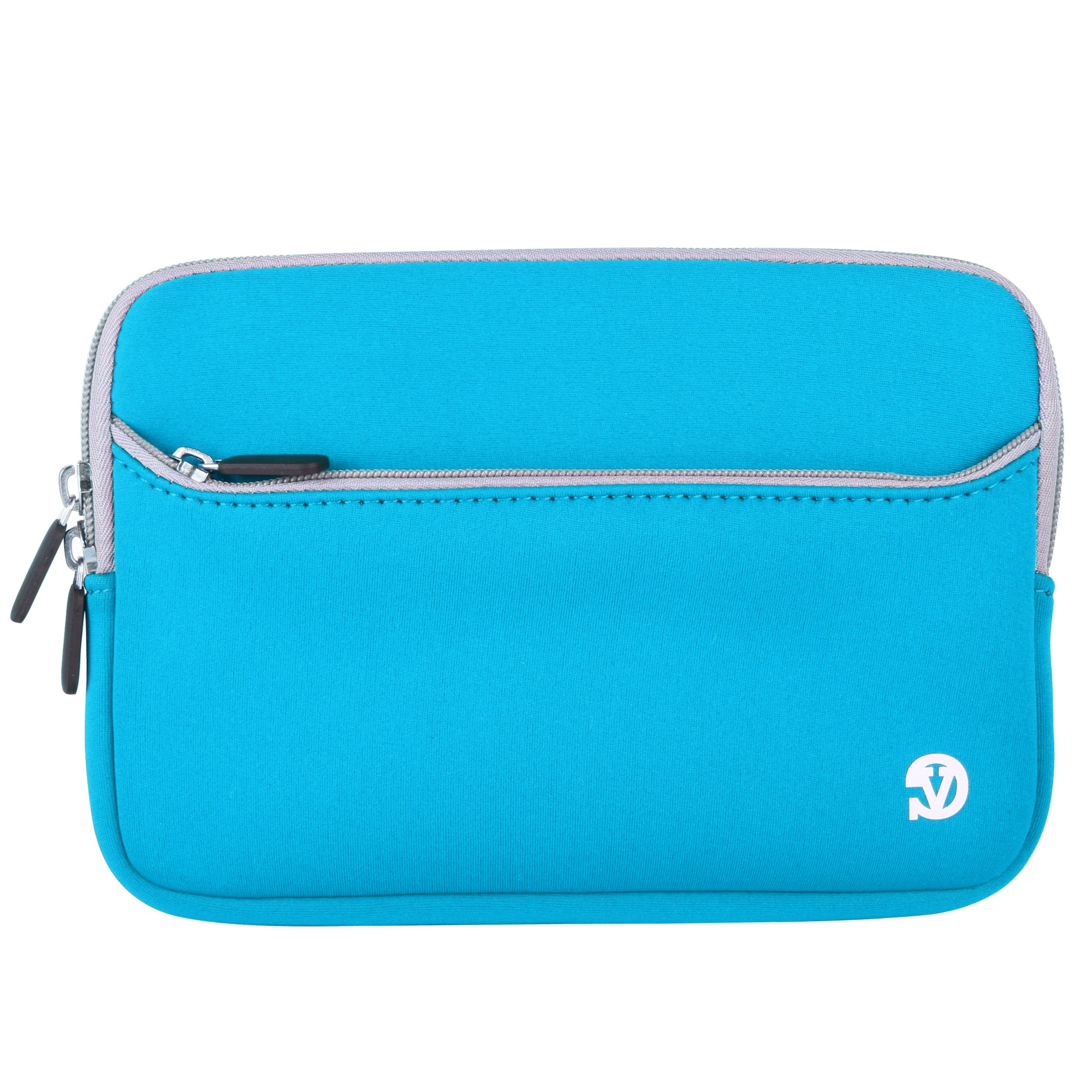 VanGoddy Sky Blue w/Grey Trim Protective Neoprene Zippered Sleeve Compatible with Lenovo Tab 3 7/Tab 3 Essential 7''