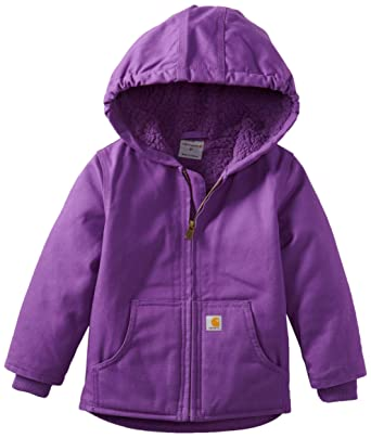 5cd40348 Amazon.com: Carhartt Girls' Redwood Jacket-Sherpa Lined: Clothing