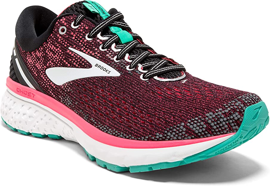 Brooks Women's Ghost 11 Black/Pink/Aqua 5 B US
