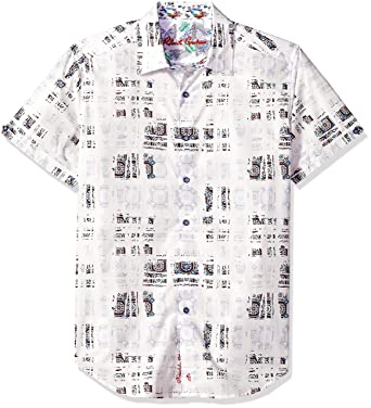 55d11024 Amazon.com: Robert Graham Men's Vega Short Sleeve Shirt: Clothing