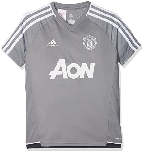 974ae1a0218 adidas Manchester United FC Official 2017 18 Authentic Training Jersey -  Youth - Grey