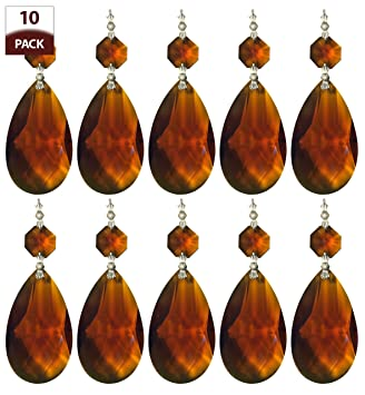 Royal designs replacement chandelier crystal prism amber k9 quality royal designs replacement chandelier crystal prism amber k9 quality tear drop almond cut with chrome connectors aloadofball Choice Image