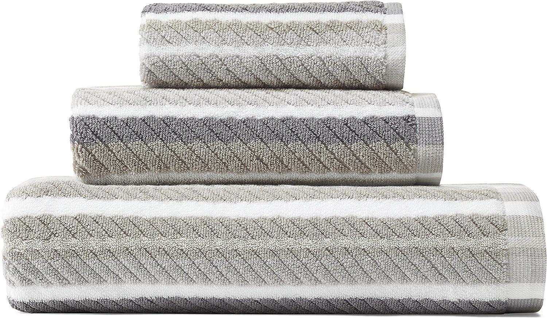Tommy Bahama Ocean Bay Stripe Bath Towel Set, 54 x 28, Grey