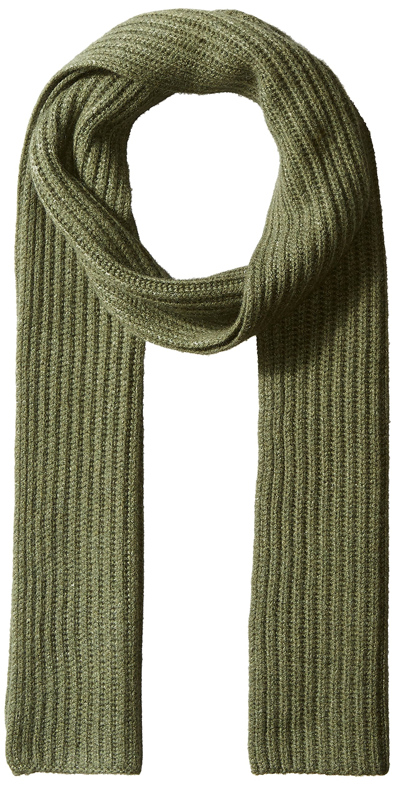 Williams Cashmere Men's 100% Cashmere Chunky Full Cardigan Scarf, New Olive Combo, One Size