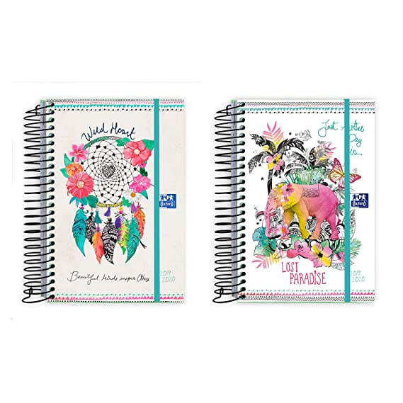 AGENDA ESCOLAR OXFORD BOHO DREAM TE 12X18 DIA PAGINA 19-20 ...