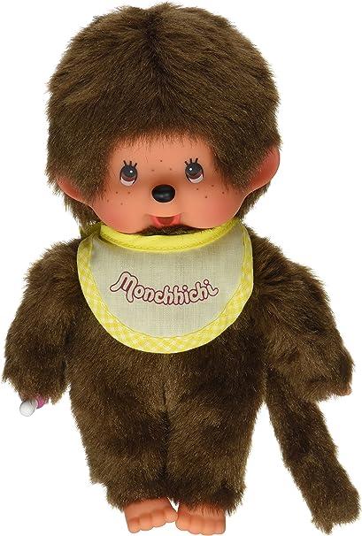 """MONCHHICHI BOY Original Sekiguchi 7.5/"""" BLUE Bib Monchichi plush monkey Doll toy"""