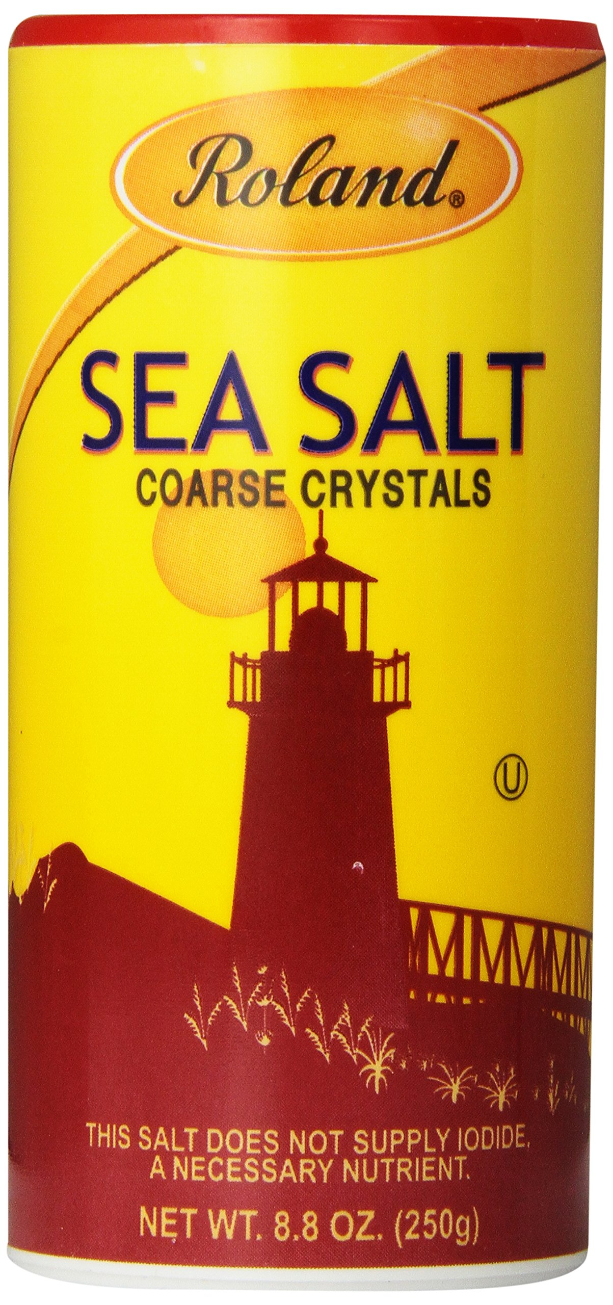 Roland Sea Salt, Course Crystals, 8.8 Ounce (Pack of 12)