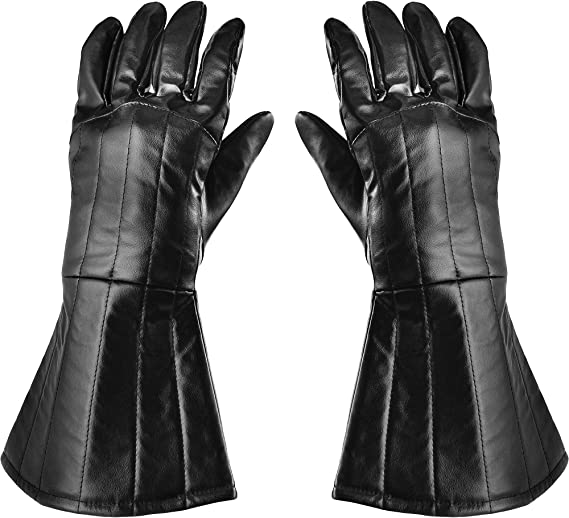 SUIT YOURSELF Star Wars Darth Vader Gloves for Adults, One Size, Faux Leather Accessories Have a Classic Gauntlet Look