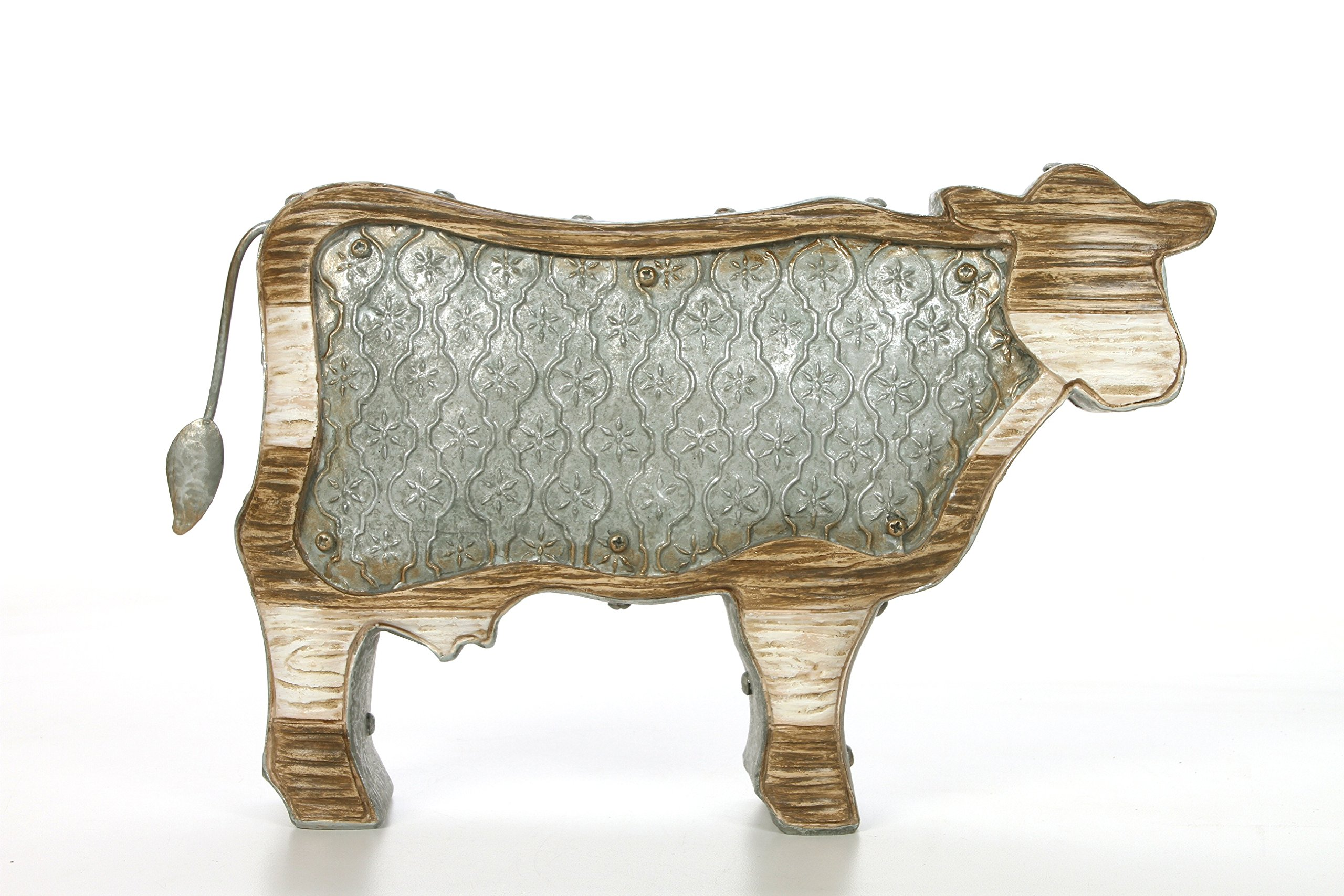 Hosley 13'' Long Table Top Quatrefoil Cow Country Style Decor. Ideal GIFT for Home, Party Favor, Weddings, Spa, Reiki, Meditation, Bathroom Settings O9