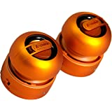 XMI X-Mini Max Duo Portable Mini Speakers with 3.5mm Jack Compatible with iPhone/iPad/iPod/Smartphones/Tablets/MP3 Player/Laptop - Orange