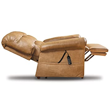 Sensational Perfect Sleep Chair Lift Chair Medical Recliner Duralux Leather Tan Andrewgaddart Wooden Chair Designs For Living Room Andrewgaddartcom
