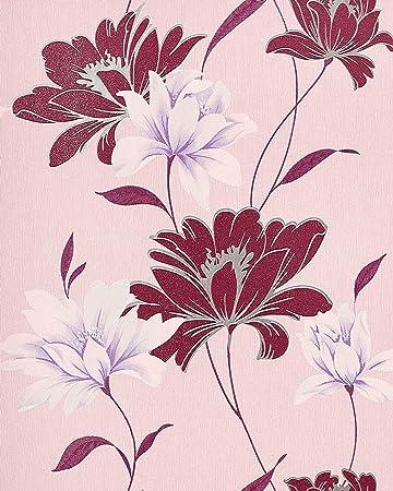 Blumen Tapete Edem 168 34 Floral Landhaus Blumentapete Designer