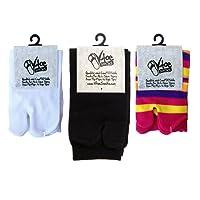 3 PAIRS Combo Pack - Flip Flop Tabi V-Toe Socks Stylish Fun Casual Split
