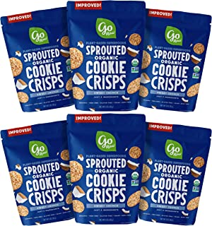product image for Go Raw Organic Cookie Crisps, Sweet Crunch, 3 oz. Bags (Pack of 6) — Superfood | Paleo | Gluten Free Snack Crisps | Vegan