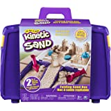 Kinetic Sand Folding Sand Box with 2lbs of Brown Sand and Multi-Use Tools