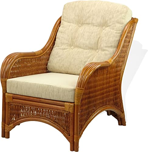 Lounge Jam Arm Chair ECO Natural Handmade Rattan Wicker