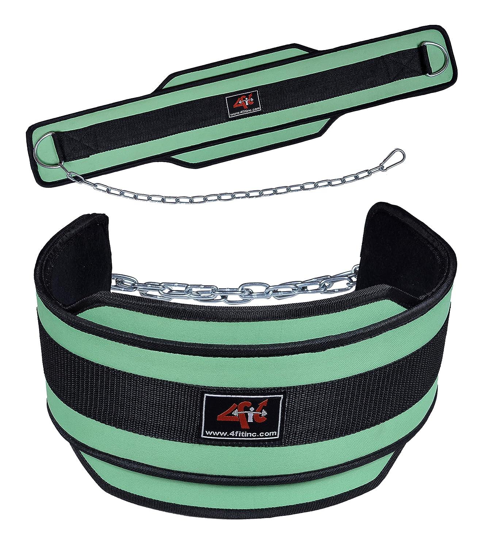 4Fit Weight Lifting Belt, Neoprene Belt Exercise Belt Heavy Chain Belt-Green