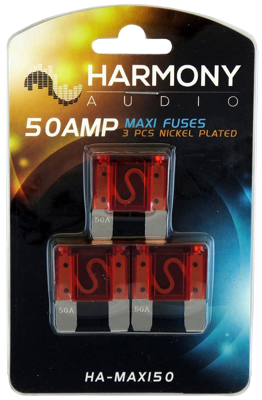 Harmony Audio HA-MAXIFH Car Boat Marine Stereo MAXI Fuseholder /& 20 Amp Fuses