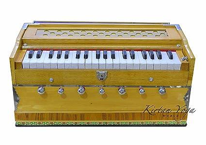 Harmonium Raga Student Premium Natural, Modelo fijo, 3.25 octavas, Fuelle Abertura Múltiple,