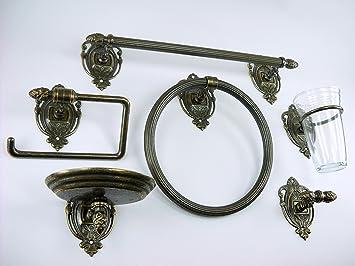 Fd bolletta arredamento e illuminazione set da bagno ottone