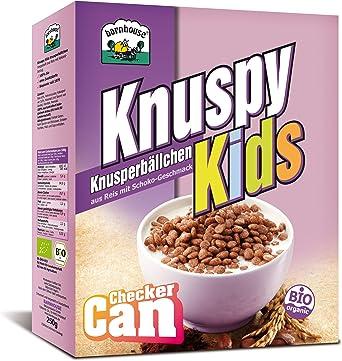 Barnhouse - Knuspy Kids - Cereales de arroz y cacao - 250 g - [pack de 3]: Amazon.es: Alimentación y bebidas