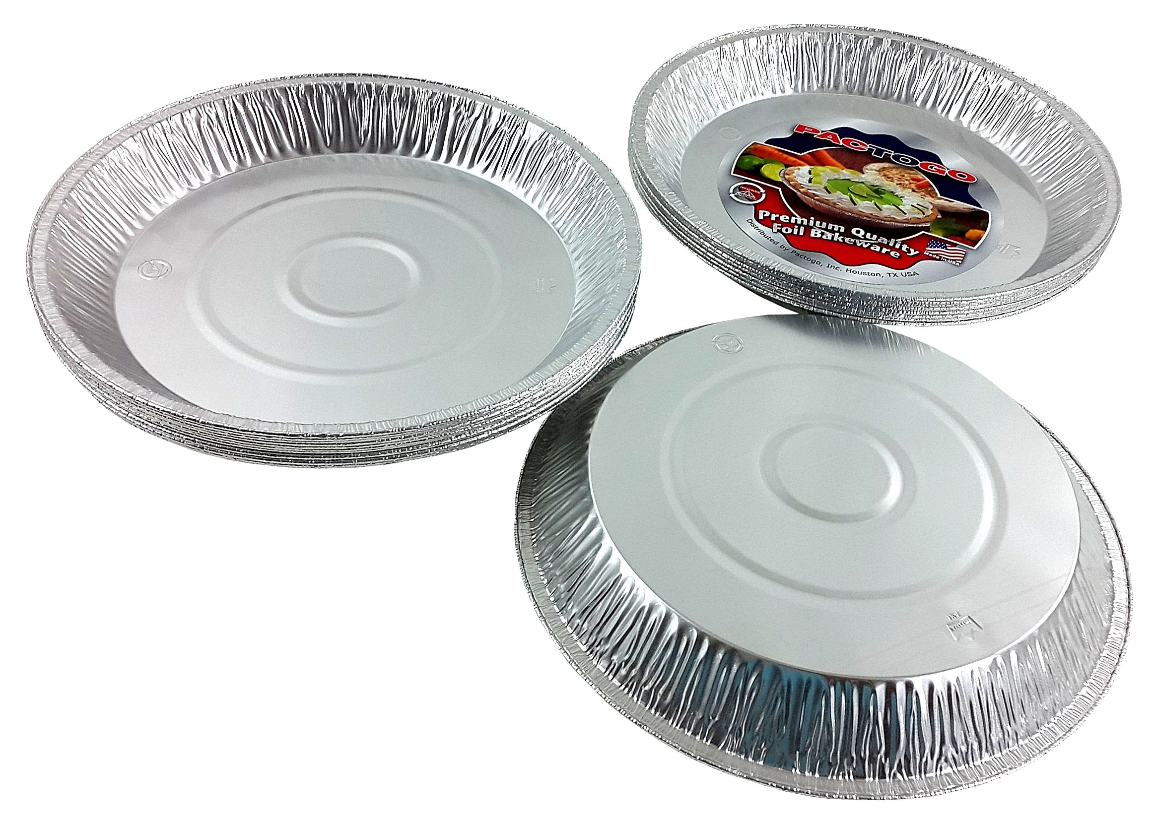 Pactogo 12'' Aluminum Foil Pie Pan Extra-Deep Disposable Tin Plates (Pack of 25) by PACTOGO (Image #5)