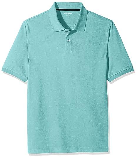 Amazon Essentials Men's Regular-Fit Cotton Pique Polo Shirt, Aqua, X-Small