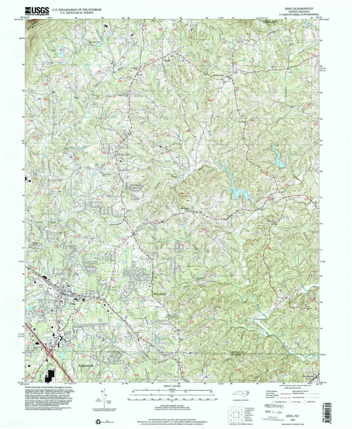 Amazon.com : YellowMaps King NC topo map, 1:24000 Scale, 7.5 X 7.5 on king texas map, king of home, king of orchids, king james map,