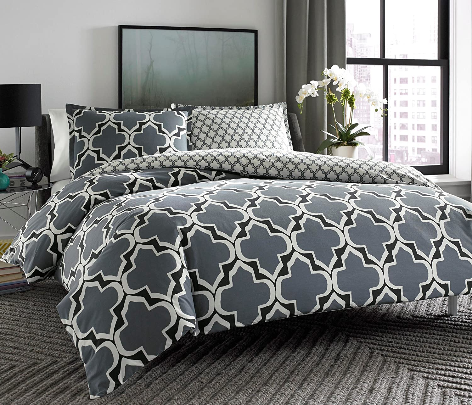 and bedding duvet graphic geometric cover digsdigs timeless ideas
