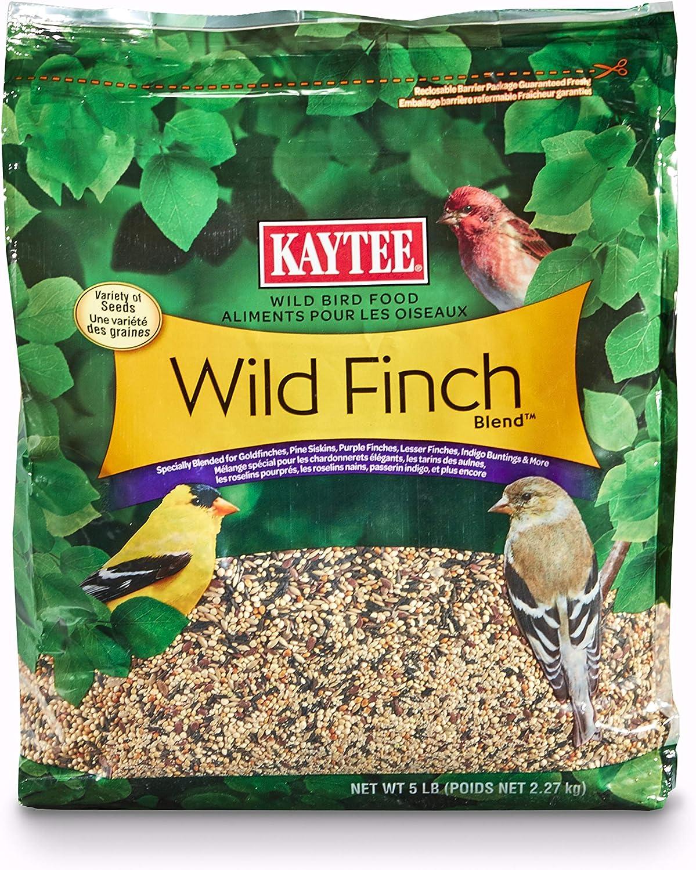 Kaytee 100061956 Finch Blend Wild Bird Food, 5 Pounds, None