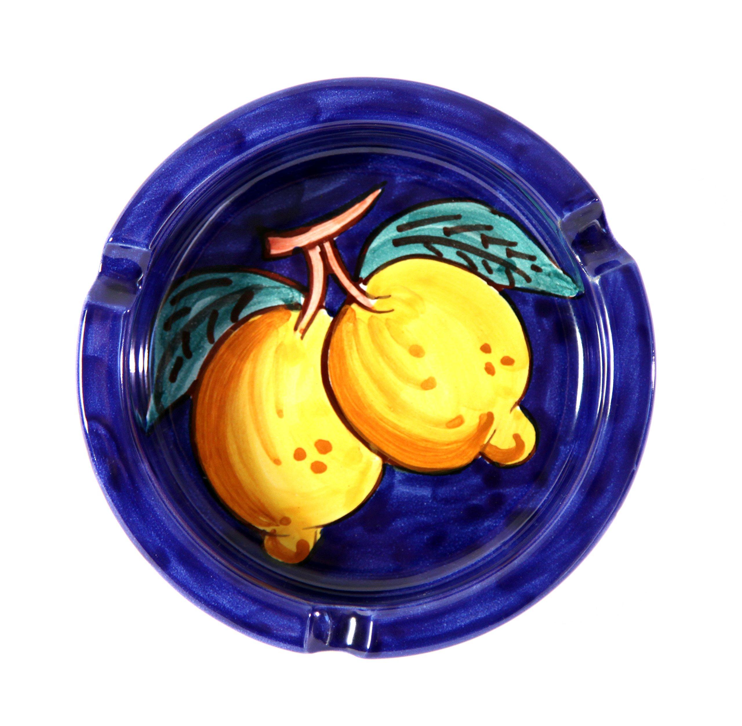 Vietri Ceramic handmade in Italy, ashtray