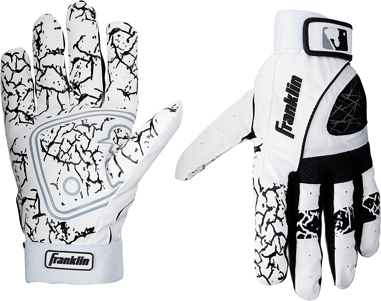 "Franklin /""Insanity/"" Batting Gloves Adult Medium or Extra Large Black or White"