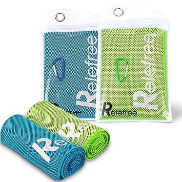 Enfriamiento deportes toalla toallas de microfibra súper absorbente para sumergirse sudor y alivio instantáneo más de ...