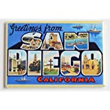 Greetings From San Diego Fridge Magnet (2 x 3 inches)