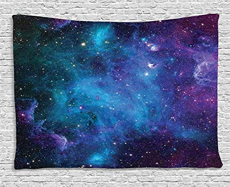 Ambesonne Space Decor Tapestry Galaxy Stars In Celestial Astronomic Planets The Universe Milky
